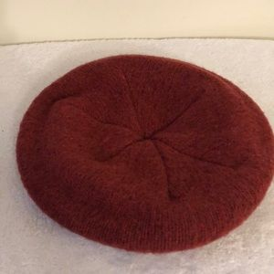 LLBean red wool and nylon knit hat